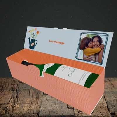 Picture of Worlds Best Mum, Mother's Day Design, Lay-down Bottle Box