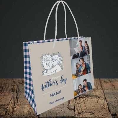 Picture of Father & Daughter, Father's Day Design, Small Landscape Gift Bag