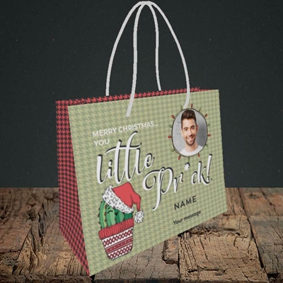 Picture of Christmas Pr*ck, Christmas Design, Small Landscape Gift Bag