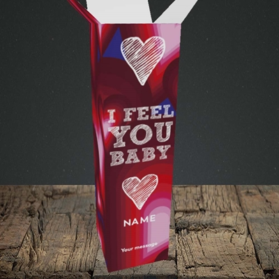 Picture of I Feel You Baby(Without Photo), Valentine's Design, Upright Bottle Box