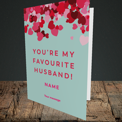 Picture of Favourite Husband(Without Photo), Valentine's Design, Portrait Greetings Card