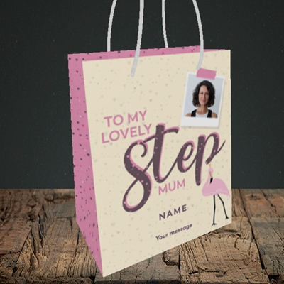 Picture of Lovely Step Mum, Mother's Day Design, Small Portrait Gift Bag