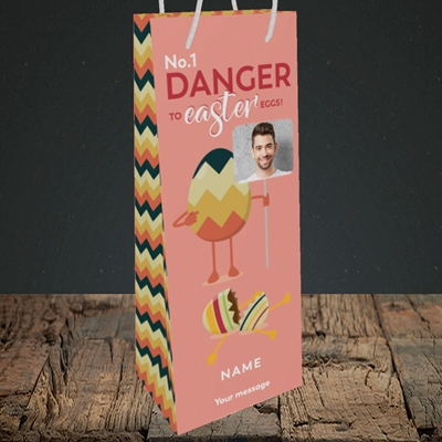 Picture of No.1 Danger, Easter Design, Bottle Bag