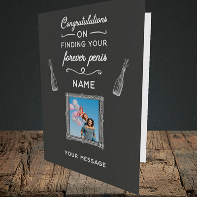 Picture of Forever, Engagement Design, Portrait Greetings Card