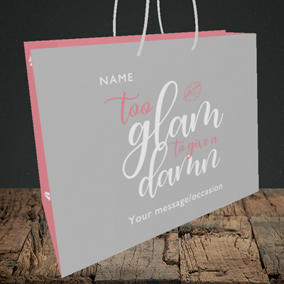 Picture of Glam, (Without Photo) Birthday Design, Medium Landscape Gift Bag