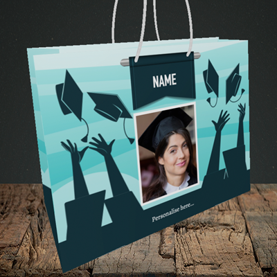 Picture of Hats, Graduation Design, Medium Landscape Gift Bag