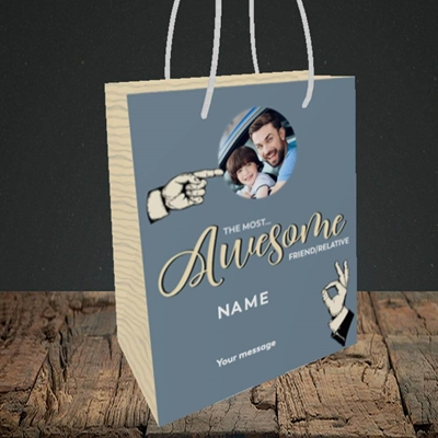 Picture of Awesome Person, Thank You Design, Small Portrait Gift Bag