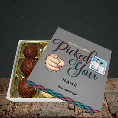 Picture of Mum Picked You, Father's Day Design, Choc 9