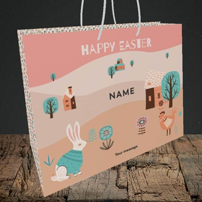 Picture of Easter Farm(Without Photo), Easter Design, Medium Landscape Gift Bag
