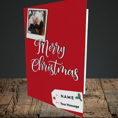 Picture of 2. A Merry Christmas Polaroid, Christmas Design, Portrait Greetings Card
