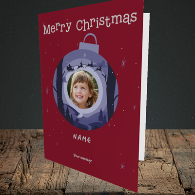 Picture of Bauble Scene, Christmas Design, Portrait Greetings Card