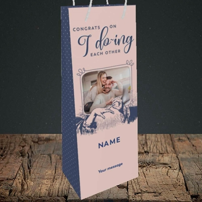 Picture of I Do-ing, Wedding Design, Bottle Bag