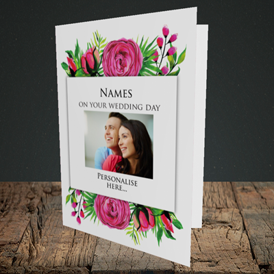 Picture of Flowers, Wedding Design, Portrait Greetings Card