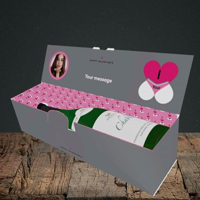 Picture of I Love Your Bum, Valentine's Design, Lay-down Bottle Box