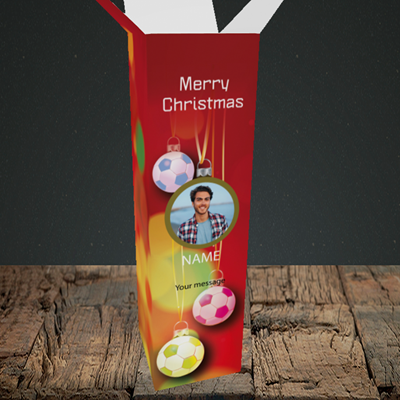 Picture of Christmas Baubles, Christmas Design, Upright Bottle Box