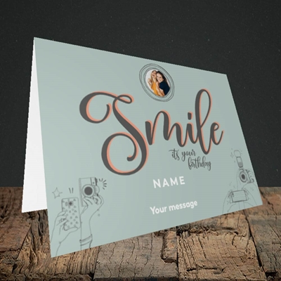 Picture of Camera Smile, Birthday Design, Landscape Greetings Card