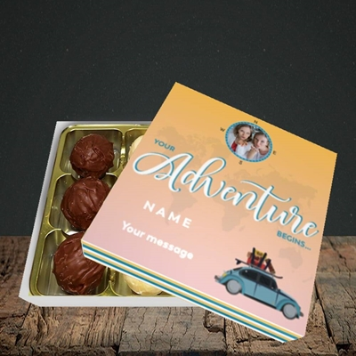 Picture of Adventure Begins, Leaving Design, Choc 9