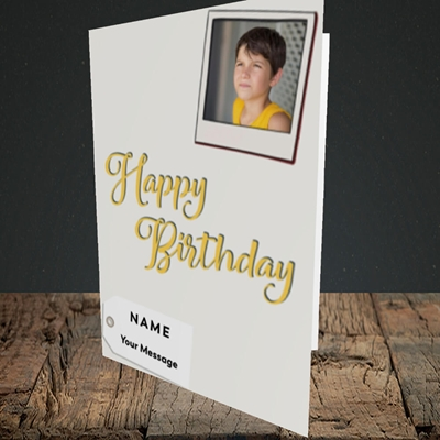 Picture of 2. A Happy Birthday Polaroid, Birthday Design, Portrait Greetings Card