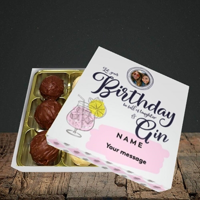 Picture of Birthday Full Of Gin, Birthday Design, Choc 9