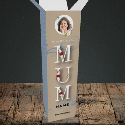 Picture of Mother's Day Flowers, Mother's Day Design, Upright Bottle Box