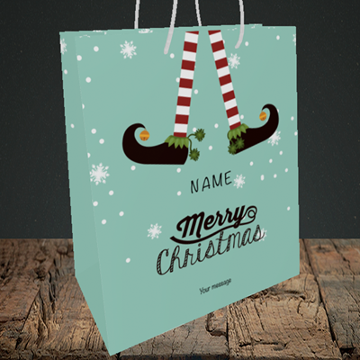 Picture of Elf, (Without Photo) Christmas Design, Medium Portrait Gift Bag