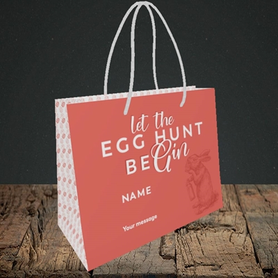 Picture of Egg Hunt BeGin(Without Photo), Easter Design, Small Landscape Gift Bag