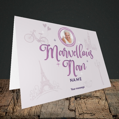 Picture of Marvellous Nan, Mother's Day Design, Landscape Greetings Card