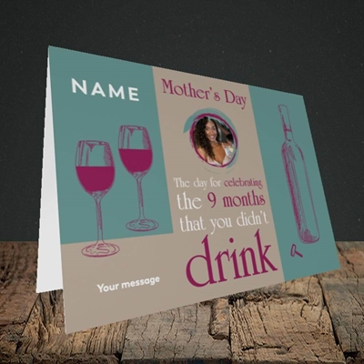 Picture of Didn't Drink, Mother's Day Design, Landscape Greetings Card