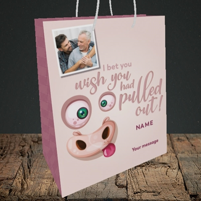 Picture of Pulled Out!, Father's Day Design, Medium Portrait Gift Bag