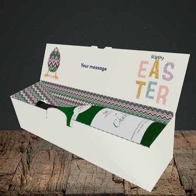 Picture of Happy Walking Egg(Without Photo), Easter Design, Lay-down Bottle Box