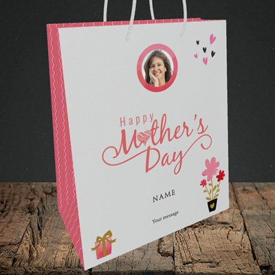 Picture of Happy Mother's Day Gifts, Medium Portrait Gift Bag