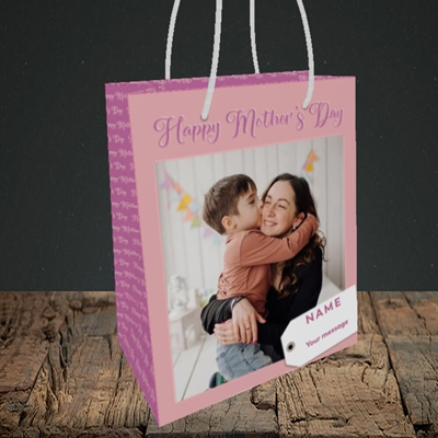 Picture of 1. Large Photo, Mother's Day Design, Small Portrait Gift Bag