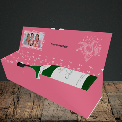 Picture of Age, Birthday Design, Lay-down Bottle Box