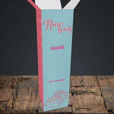 Picture of Nice Buns, (Without Photo) Easter Design, Upright Bottle Box