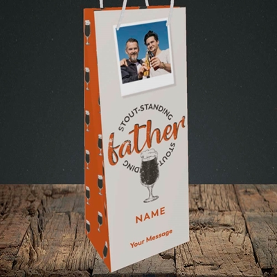 Picture of Stout-standing Father, Father's Day Design, Bottle Bag