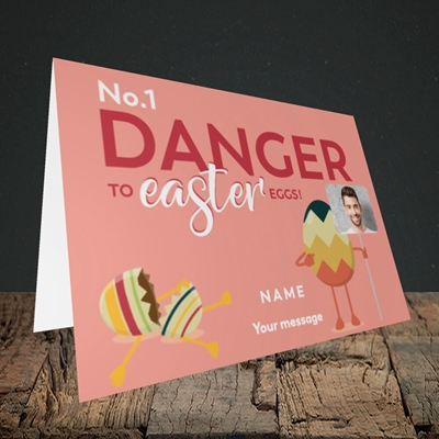 Picture of No.1 Danger, Easter Design, Landscape Greetings Card