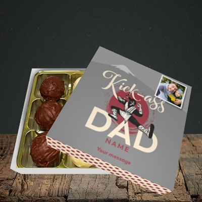 Picture of Kick-Ass Dad, Father's Day Design, Choc 9