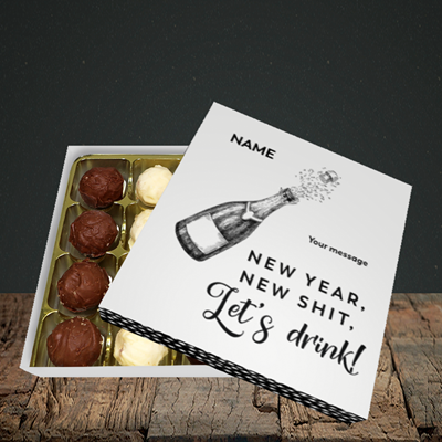 Picture of Let's Drink(Without Photo), New Year Design, Choc 16