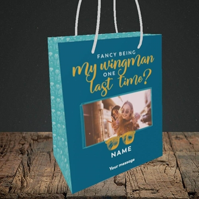 Picture of Wingman, Wedding Design, Small Portrait Gift Bag