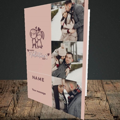 Picture of Holding Hands, Valentine's Design, Portrait Greetings Card