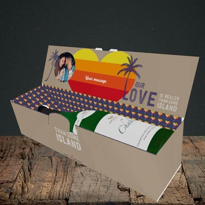 Picture of Our Love Is Realer, Valentine's Design, Lay-down Bottle Box