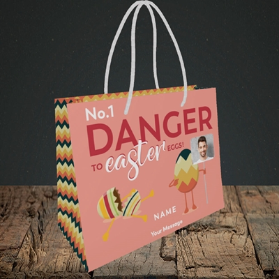 Picture of No.1 Danger, Easter Design, Small Landscape Gift Bag