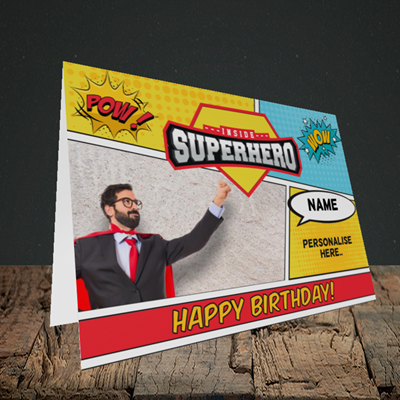 Picture of Comic, Birthday Design, Landscape Greetings Card