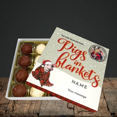 Picture of Pigs In Blankets, Christmas Design, Choc 16