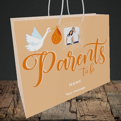 Picture of Parents To Be, Pregnancy Design, Medium Landscape Gift Bag