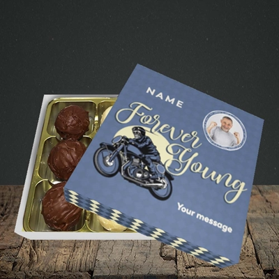 Picture of Forever Young (Motorbike), Birthday Design, Choc 9