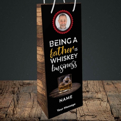Picture of Whiskey Business, Father's Day Design, Bottle Bag