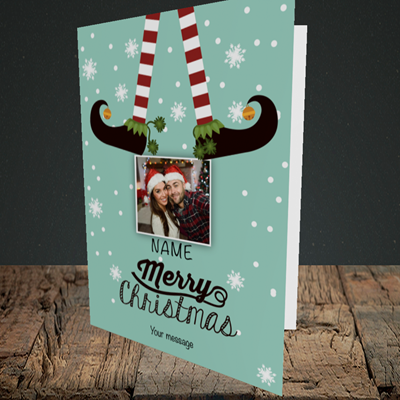 Picture of Elf, Christmas Design, Portrait Greetings Card