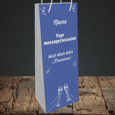 Picture of Blah, (Without Photo) Birthday Design, Bottle Bag