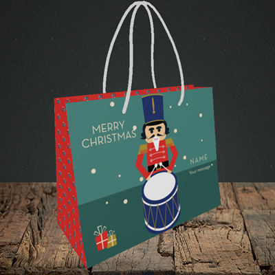 Picture of Drummer Boy(Without Photo), Christmas Design, Small Landscape Gift Bag